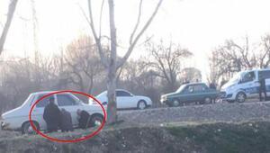 Pes dedirten görüntü Yaşlı amcalar polisi görünce böyle saklandı...