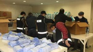 Bursada 100 bin kaçak tıbbi maske ele geçirildi