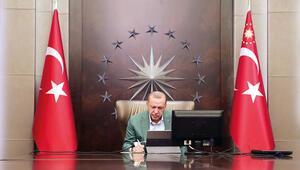 Erdoğandan video konferans
