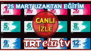 TRT EBA TV canlı yayın ilkokul ortaokul lise bilgileri Giriş yapmadan EBA TV izle