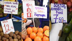 Semt pazarlarında corona virüs etkisi Etiketler böyle oldu...