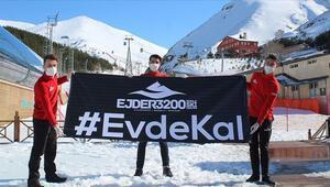 Palandökendeki kayak heyecanı Kovid-19 nedeniyle sona erdi