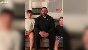 Hamza Yerlikaya Evde kal kampanyası için şınav çekti
