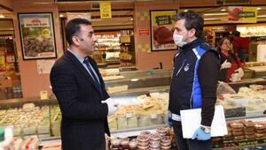 Altındağda marketlere koronavirüs bilgilendirmesi