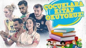 Sporcular sosyal medyadan çocuklara kitap okumaya başladı Nuri Şahin, Bahar Guidetti, Yasemin Ecem Anagöz...
