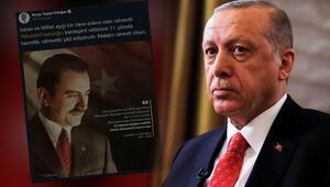 Cumhurbaşkanı Erdoğandan Muhsin Yazıcıoğlu paylaşımı