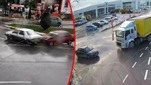 Korkutan kazalar MOBESE kameralarına böyle yansıdı