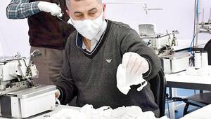 Maske üreticisine 6 milyon lira destek