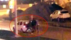 Dövüp otomobilin bagajına koydular Polis kurtardı...