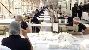 Bakanlığa bağlı fabrikalarda maske üretimi arttı