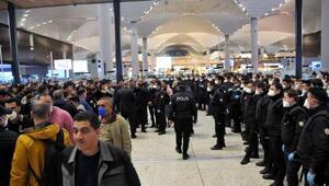 İstanbul Havalimanında bekletilen yabancı yolcular Karabüke gönderildi