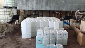 Malatyada, 2 bin 600 litre sahte dezenfektan ele geçirildi