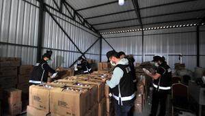 Bursada kaçak üretilen 20 ton dezenfektan ele geçirildi