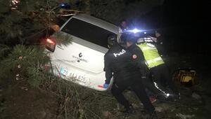 Karabükte otomobil şarampole devrildi: 1 ölü, 3 yaralı