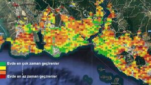 İstanbulda hangi semtler evde kaldı Dikkat çeken harita...