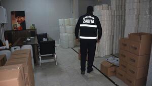 Başkentte kaçak dezenfektan üretilen iş yeri mühürlendi