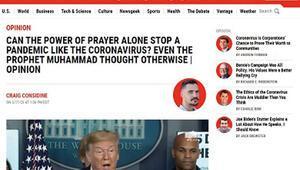 Newsweekten koronaya karşı Hz. Muhammedin tavsiyeleri