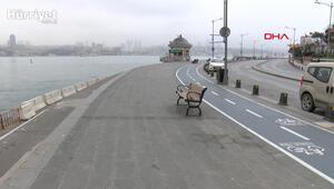 İstanbulda sahil ve  otogarlar bomboş kaldı