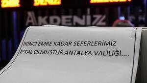 Antalya Otogarından yolcu otobüslerin çıkışına izin verilmedi