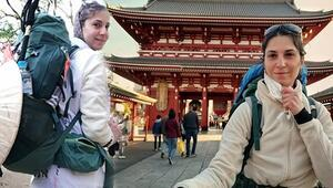 Hac yollarında tek başına yürüyen gezgin… Corona virüse rağmen Japonya'da