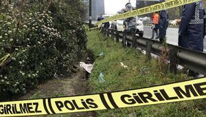 TEM Otoyolu kenarında 35 metre uzunluğunda çukur kazdı sonrası korkunç