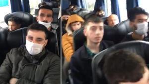 Polis kent girişinde durdurdu Otobüsteki 46 kişiye ceza ve 14 gün karantina...