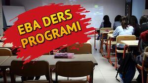 EBA ders programı 30 Mart Pazartesi İlkokul ortaokul ve lise EBA ders saatleri