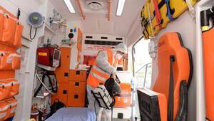 Altındağda ambulanslara koronavirüs önlemi