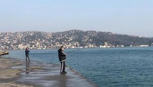 Tarabya Sahilinde yasağı çiğneyip balık tuttular