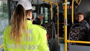 Şişlide toplu taşımada sosyal mesafeyi koruma denetimi