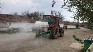 Edirnede köyler dezenfekte ediliyor