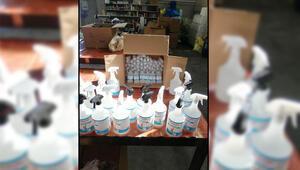 Denizlide, sahte dezenfektan üretimine 2 gözaltı