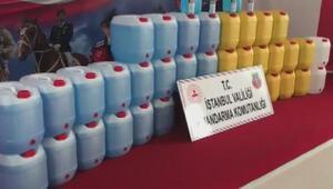 Jandarmadan sahte dezenfektan üretenlere operasyon