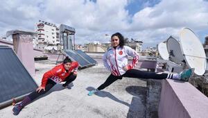 Altın kızlar şampiyonalara çatıda hazırlanıyor