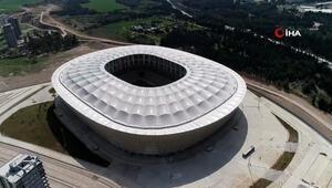 Adana'nın yeni stadyumu havadan görüntülendi