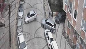Otomobillerden  hırsızlık yapan şüpheliler kamerada