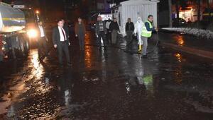 Bağlardaki caddeler dezenfekte edildi