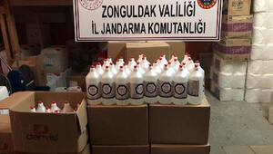 Zonguldakta sahte dezenfektan operasyonu: 3 gözaltı