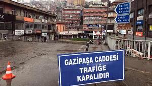 Zonguldakın en işlek caddesi trafiğe kapatıldı