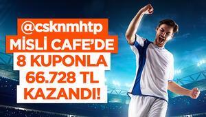8 iddaa kuponu ile Misli Cafede 66 bin 728 TL kazandı Futbol maçlarıyla değil...