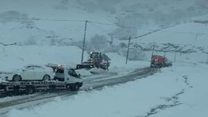 Bingölde 281 köy yolu kardan kapandı