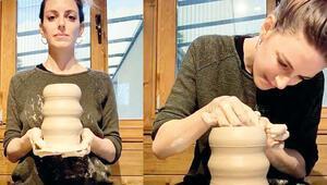 Bige Önal seramik sanatına merak sardı