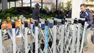 Altındağda pazar yerlerinde virüs önlemi