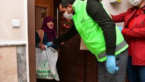 Mamak Belediyesinden 65 yaş üstü vatandaşlara gıda ve hijyen paketi