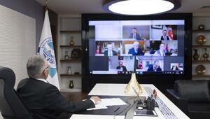 Başkan Büyükkılıç, Bakan Kurum ile telekonferans yöntemiyle görüştü