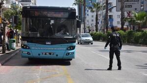 Otobüslere koronavirüs denetimi