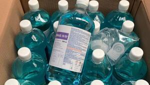 100 bin litre dezenfektan teslim edildi