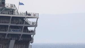 Yunanistan'da dev gemi karantina altına alındı