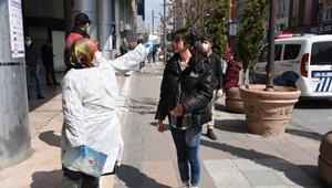 Eskişehir'de sokakta ateş ölçümleri başladı
