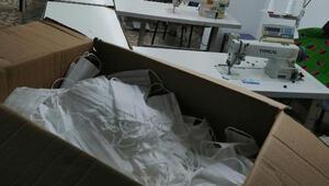 Kocaeli'de kaçak imalathanelerde 2 bin maske ele geçirildi